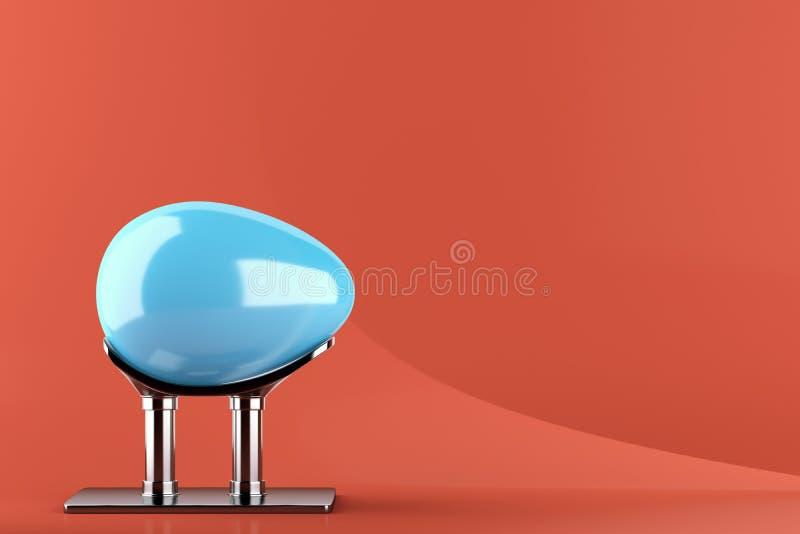 Αυγό Πάσχας στη στάση μετάλλων ελεύθερη απεικόνιση δικαιώματος