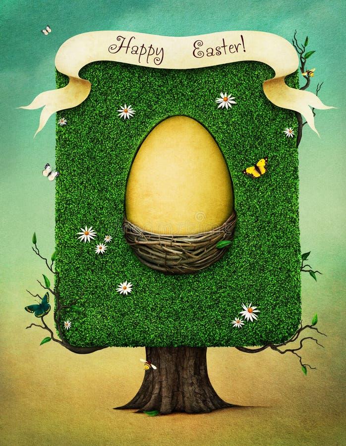 Αυγό Πάσχας στο δέντρο απεικόνιση αποθεμάτων