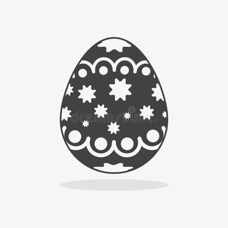 Αυγό Πάσχας στο μαύρο άσπρο ύφος ελεύθερη απεικόνιση δικαιώματος