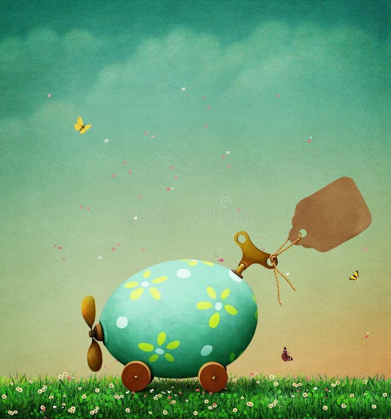 Αυγό Πάσχας υποβάθρου διανυσματική απεικόνιση