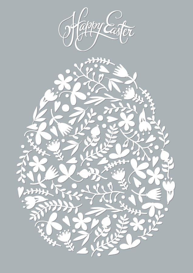 Αυγό Πάσχας φιαγμένο από floral σχέδιο διακοπών στοκ εικόνες