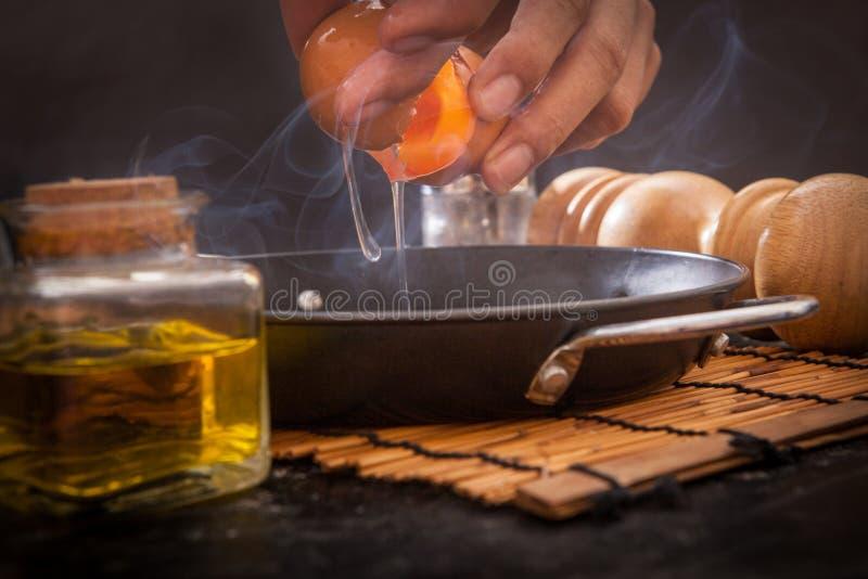 αυγό που τηγανίζεται στοκ εικόνες με δικαίωμα ελεύθερης χρήσης