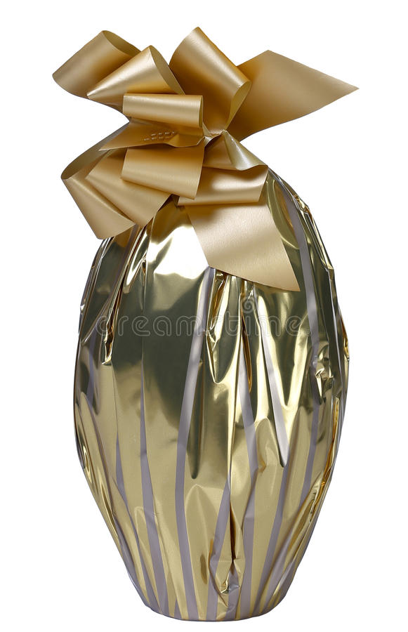 Αυγό σοκολάτας χρυσό στοκ φωτογραφία με δικαίωμα ελεύθερης χρήσης