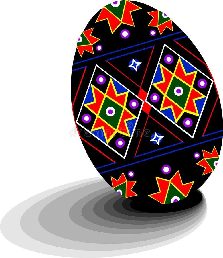 αυγό pysanky Ουκρανός διανυσματική απεικόνιση