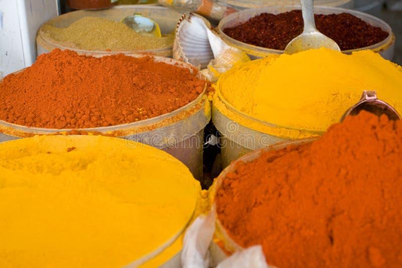Αυθεντικά τυνησιακά καρυκεύματα στην αγορά Mahdiya, Τυνησία στοκ φωτογραφίες με δικαίωμα ελεύθερης χρήσης