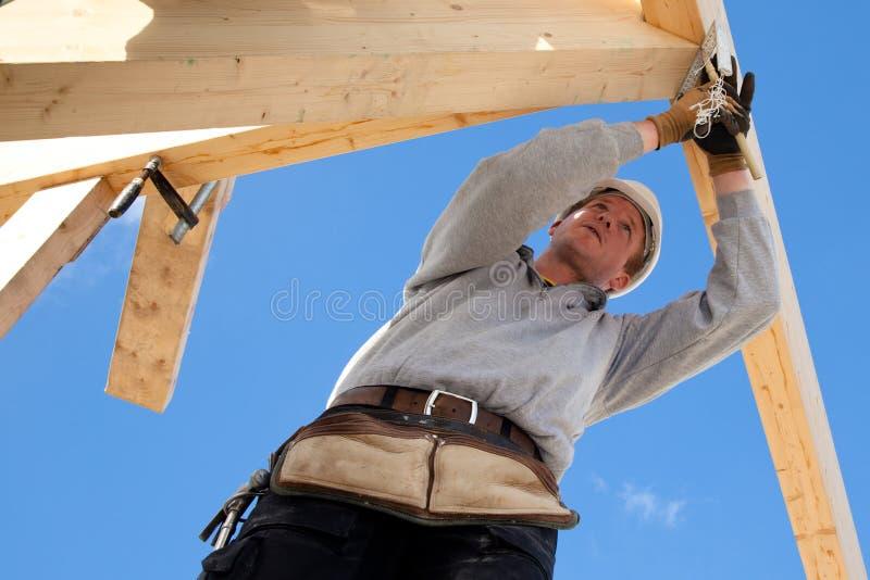 Αυθεντικός εργάτης οικοδομών Στοκ Φωτογραφίες