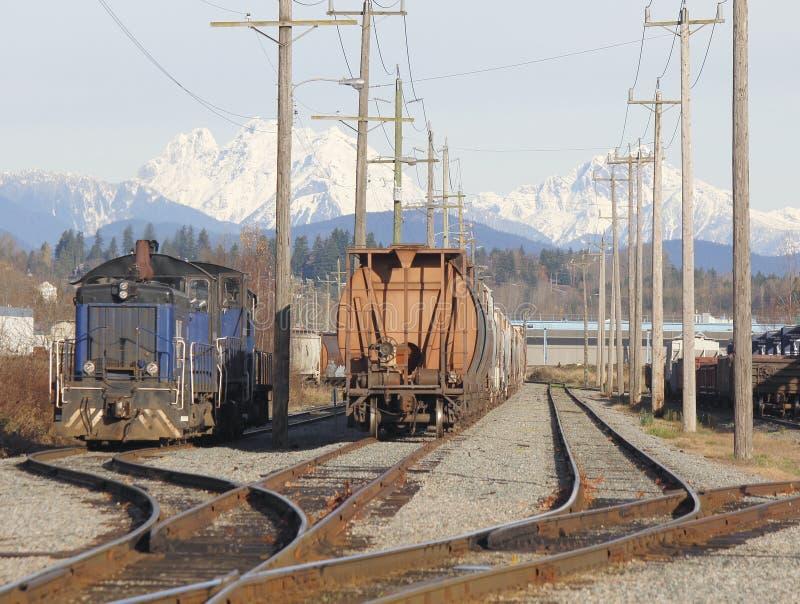 Αυλή σιδηροδρόμων στοκ εικόνες με δικαίωμα ελεύθερης χρήσης