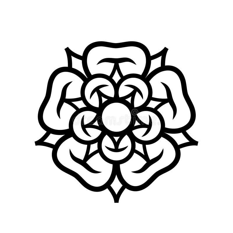 Αυξήθηκε βασίλισσα των λουλουδιών: έμβλημα της αγάπης, της ομορφιάς και της τελειότητας διανυσματική απεικόνιση