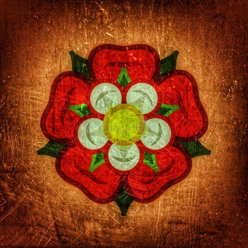 Αυξήθηκε ( Βασίλισσα flowers): έμβλημα της αγάπης, της ομορφιάς και της τελειότητας διανυσματική απεικόνιση