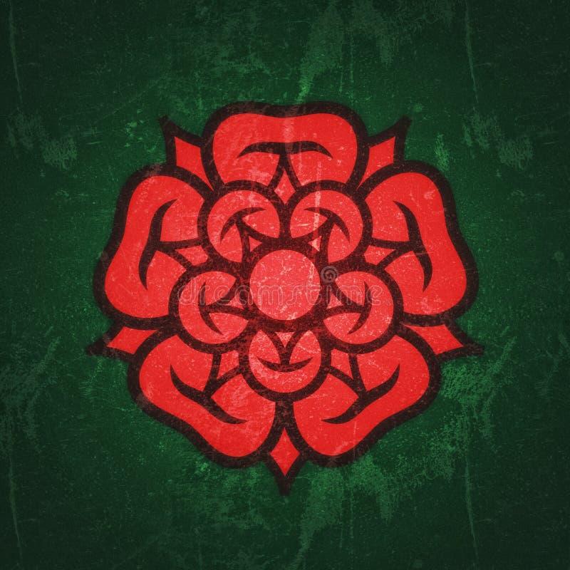 Αυξήθηκε ( Βασίλισσα flowers) , έμβλημα της αγάπης, της ομορφιάς και της τελειότητας ελεύθερη απεικόνιση δικαιώματος