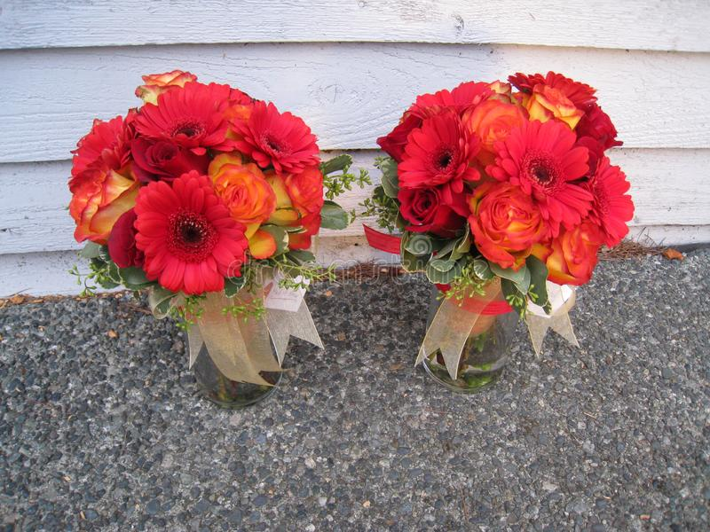 Αυξήθηκε λουλουδιών νεαρών άνδρων χαριτωμένο κοριτσιών χαριτωμένο πάρκο κήπων μωρών όμορφο στοκ εικόνες