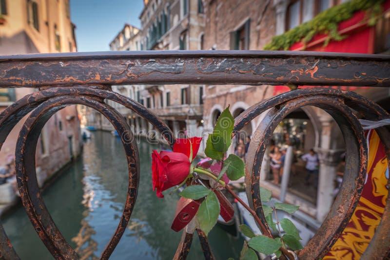 Αυξήθηκε στη γέφυρα στη Βενετία στοκ φωτογραφία