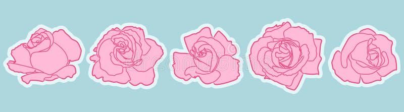 Αυξήθηκε σύνολο μπαλωμάτων λουλουδιών απεικόνιση αποθεμάτων