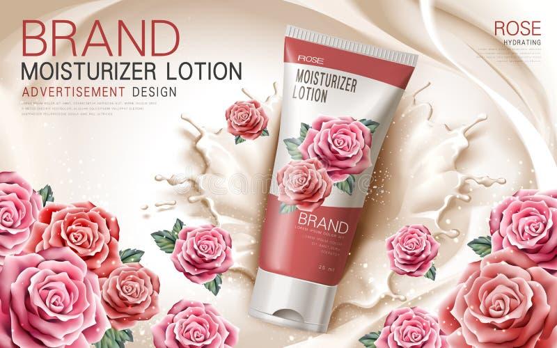 Αυξήθηκε moisturizer λοσιόν ελεύθερη απεικόνιση δικαιώματος