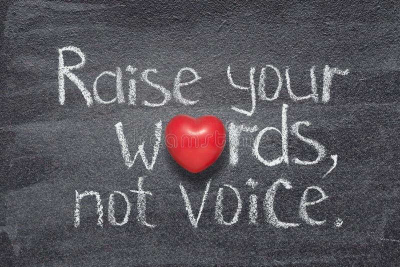 Αυξήστε την καρδιά λέξεων στοκ εικόνα