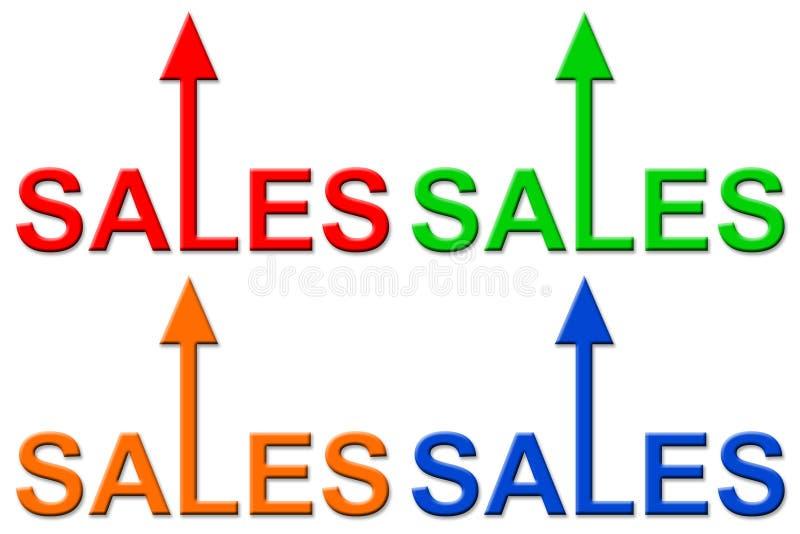 Αυξανόμενες πωλήσεις διανυσματική απεικόνιση