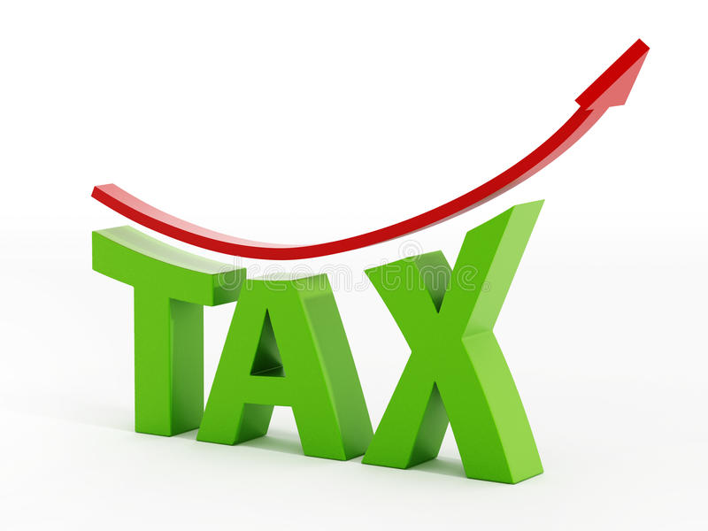 Αυξανόμενη φορολογική έννοια απεικόνιση αποθεμάτων