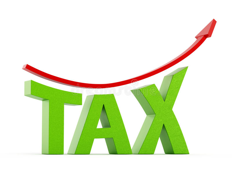 Αυξανόμενη φορολογική έννοια διανυσματική απεικόνιση