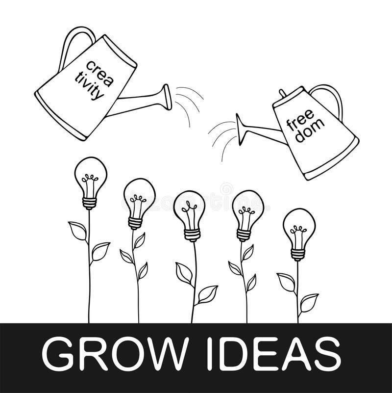 Αυξηθείτε τη διανυσματική απεικόνιση ιδεών ελεύθερη απεικόνιση δικαιώματος