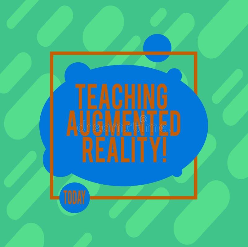 Αυξημένη διδασκαλία πραγματικότητα γραψίματος κειμένων γραφής Έννοια που σημαίνει τη χρήση του AR apps άμεσα στην τάξη διανυσματική απεικόνιση