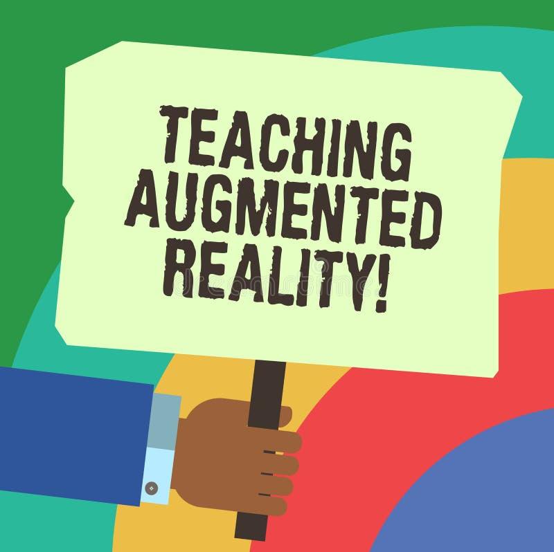 Αυξημένη διδασκαλία πραγματικότητα γραψίματος κειμένων γραφής Έννοια που σημαίνει τη χρήση του AR apps άμεσα στην τάξη HU ελεύθερη απεικόνιση δικαιώματος