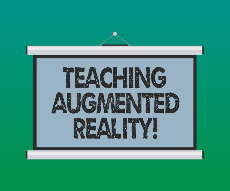 Αυξημένη διδασκαλία πραγματικότητα κειμένων γραφής Έννοια που σημαίνει τη χρήση του AR apps άμεσα στο κενό τάξεων φορητό ελεύθερη απεικόνιση δικαιώματος