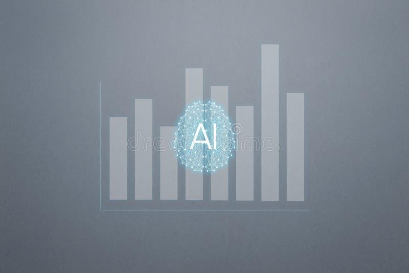 Αυξημένο έννοια analytics Επιχειρησιακό analytics και οικονομική έννοια τεχνολογίας ελεύθερη απεικόνιση δικαιώματος