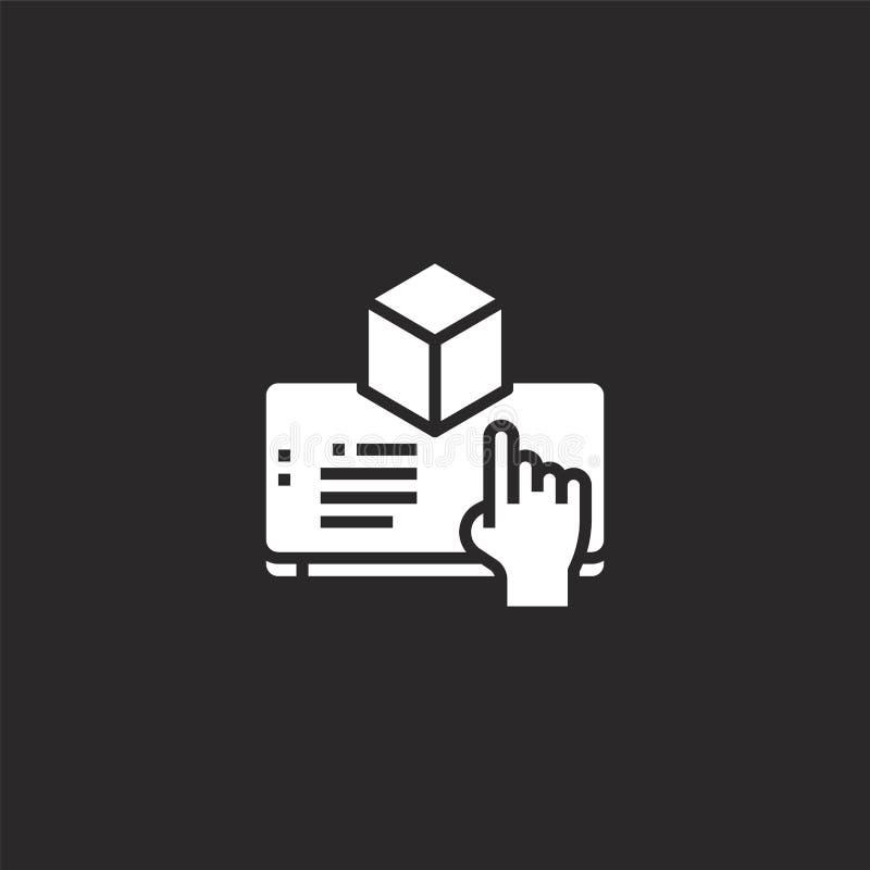 αυξημένο εικονίδιο πραγματικότητας Γεμισμένο αυξημένο εικονίδιο πραγματικότητας για το σχέδιο ιστοχώρου και κινητός, app ανάπτυξη ελεύθερη απεικόνιση δικαιώματος