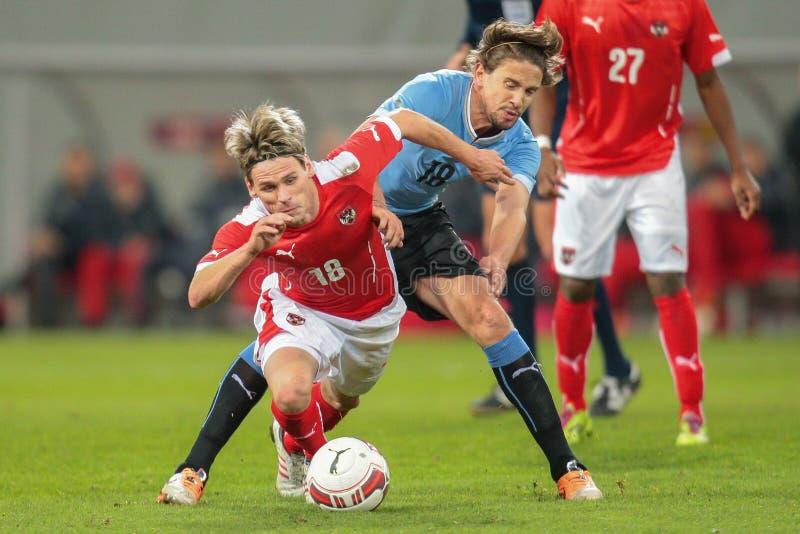 Αυστρία Βέλγιο εναντίον Ουρουγουάη στοκ φωτογραφία