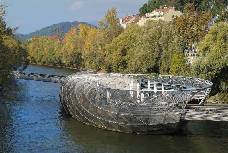 Αυστρία, Γκραζ, Murinsel στοκ φωτογραφίες με δικαίωμα ελεύθερης χρήσης