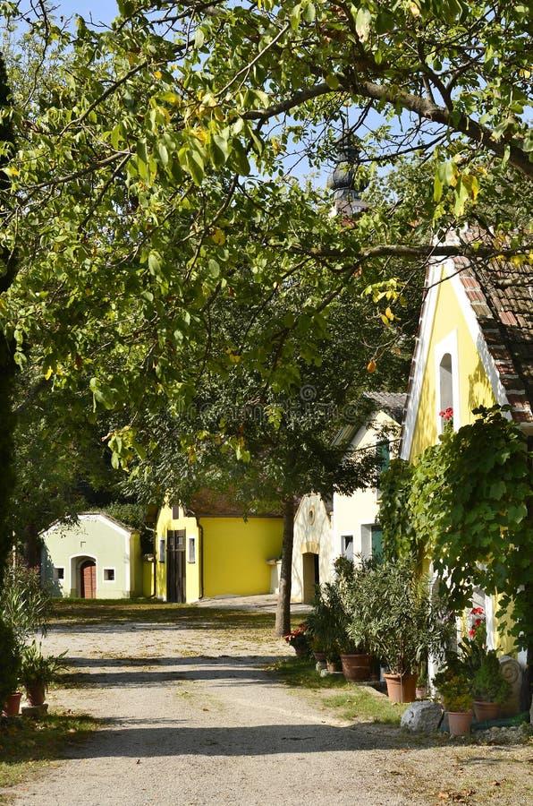 Αυστρία, κελάρια κρασιού στοκ φωτογραφία με δικαίωμα ελεύθερης χρήσης