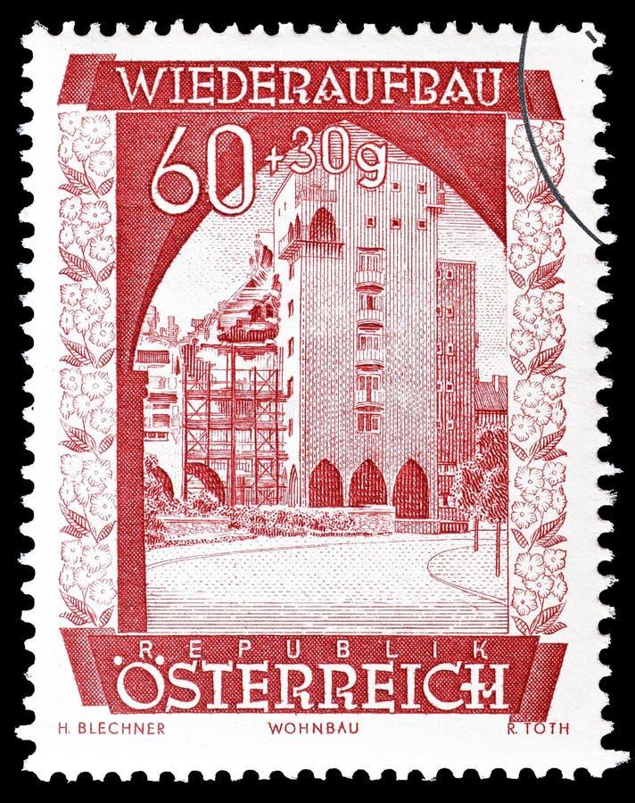 Αυστρία στο γραμματόσημο στοκ εικόνες με δικαίωμα ελεύθερης χρήσης