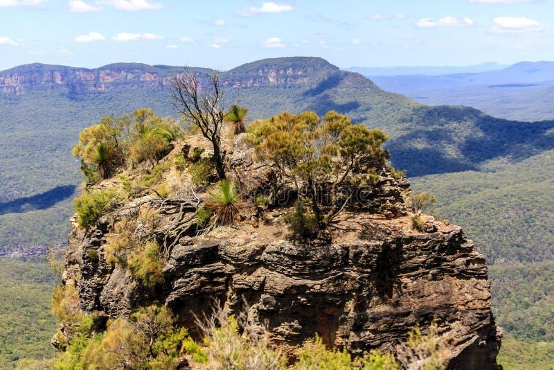 Αυστραλέζικα Μπλε Βουνά στο Κάθε Σημείο Katoomba, Νέα Νότια Ουαλία, Αυστραλία στοκ φωτογραφία