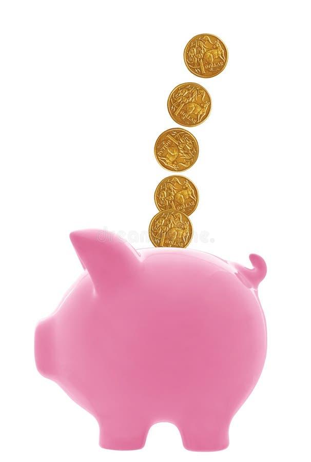 αυστραλιανά δολάρια τραπεζών piggy στοκ φωτογραφίες