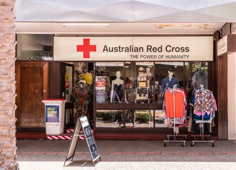 Αυστραλιανό κατάστημα στο κέντρο της πόλης Δαρβίνος Αυστραλία Ερυθρών Σταυρών στοκ φωτογραφία με δικαίωμα ελεύθερης χρήσης