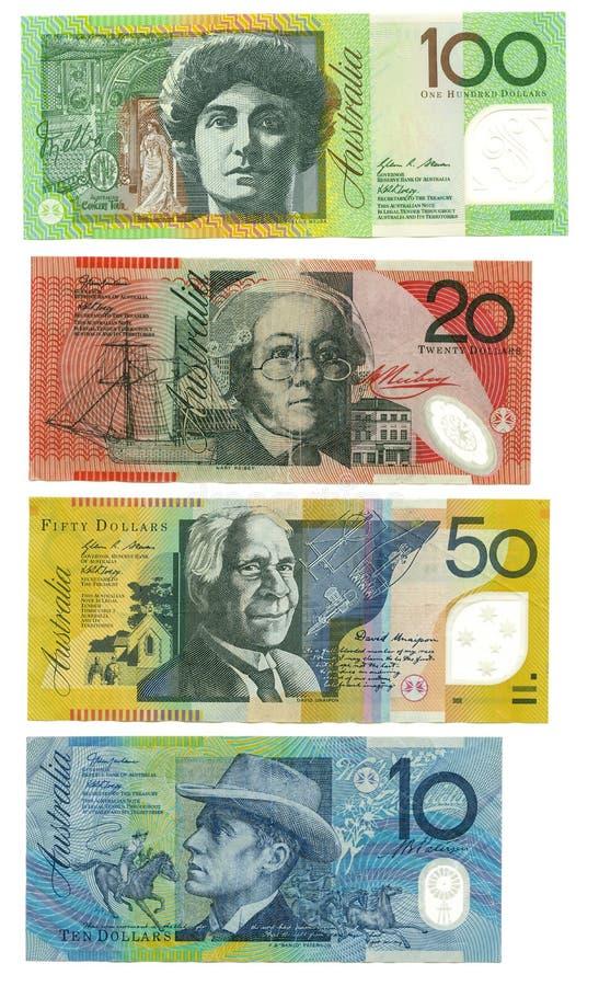 Αυστραλιανά τραπεζογραμμάτια Στοκ Εικόνα