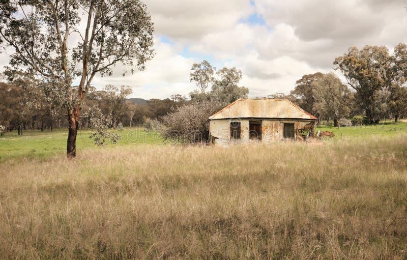 Αυστραλιανό αγροτικό σπίτι από yesteryear στοκ φωτογραφία