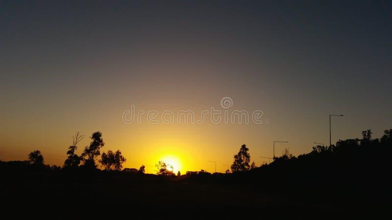 αυστραλιανό ηλιοβασίλεμα στοκ εικόνες