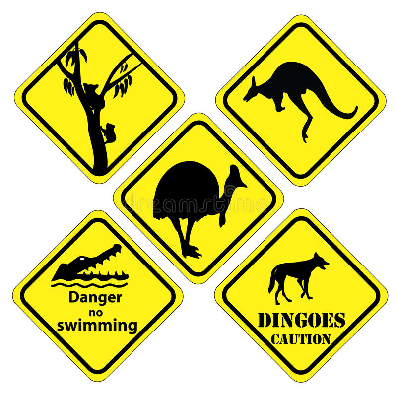 Αυστραλιανό σύνολο σημαδιών ελεύθερη απεικόνιση δικαιώματος