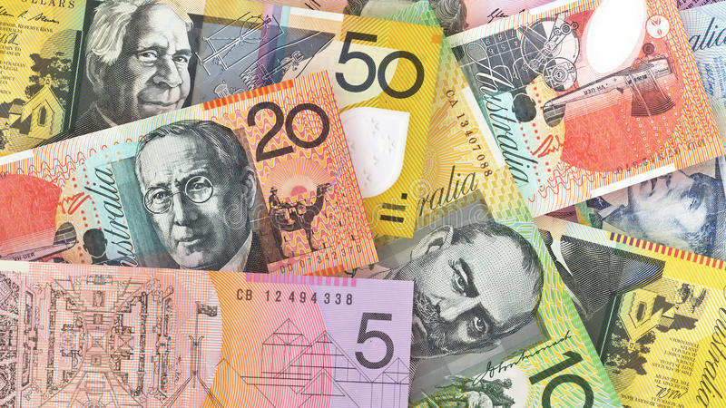 Αυστραλιανό υπόβαθρο δολαρίων στοκ φωτογραφία