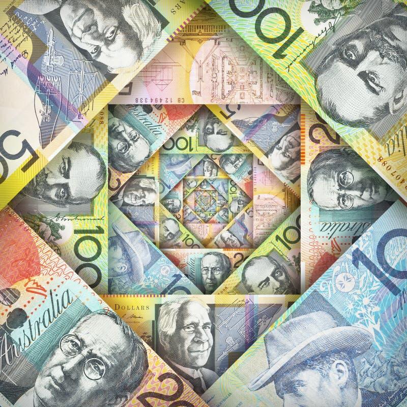 Αυστραλιανό υπόβαθρο δολαρίων στοκ εικόνες