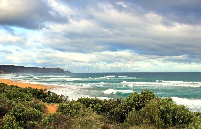 Αυστραλιανό ωκεάνιο τοπίο στοκ εικόνα