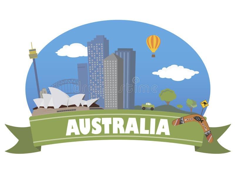 Αυστραλοί Τουρισμός και ταξίδι ελεύθερη απεικόνιση δικαιώματος