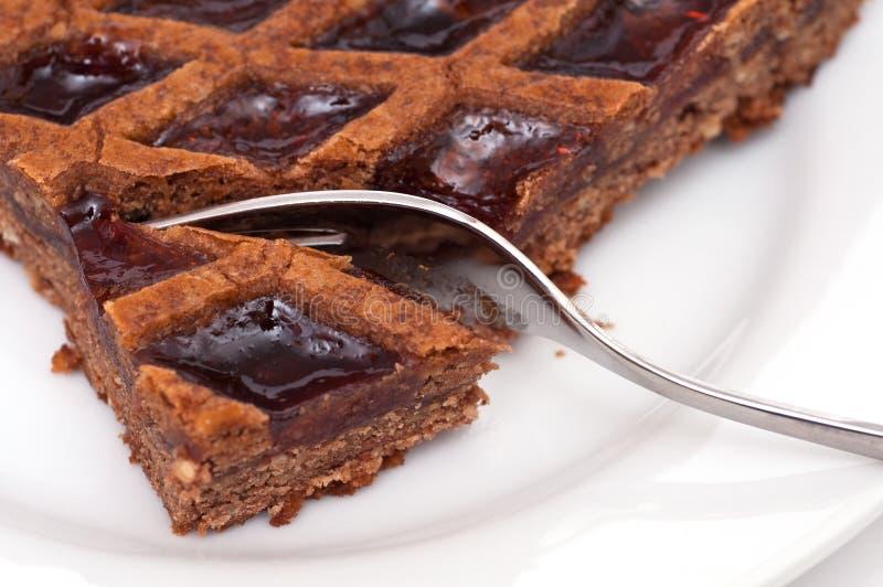 αυστριακή μαρμελάδα αμυγδάλων tarte στοκ εικόνα με δικαίωμα ελεύθερης χρήσης