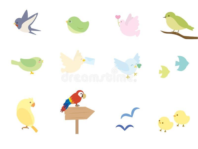 Σύνολο πουλιών ελεύθερη απεικόνιση δικαιώματος