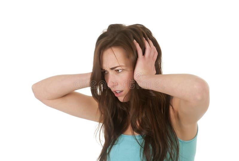 Αυτιά εκμετάλλευσης γυναικών στοκ εικόνα με δικαίωμα ελεύθερης χρήσης