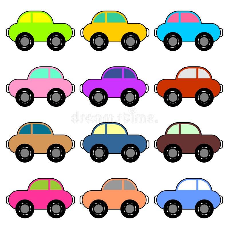 αυτοκίνητα αστεία διανυσματική απεικόνιση