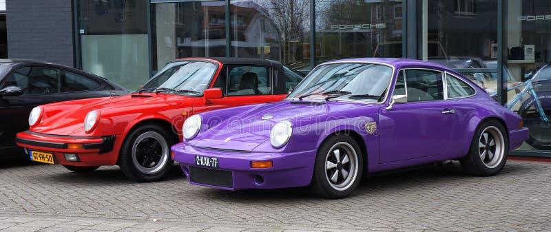 Αυτοκίνητα πολυτέλειας της Porsche στοκ εικόνες με δικαίωμα ελεύθερης χρήσης