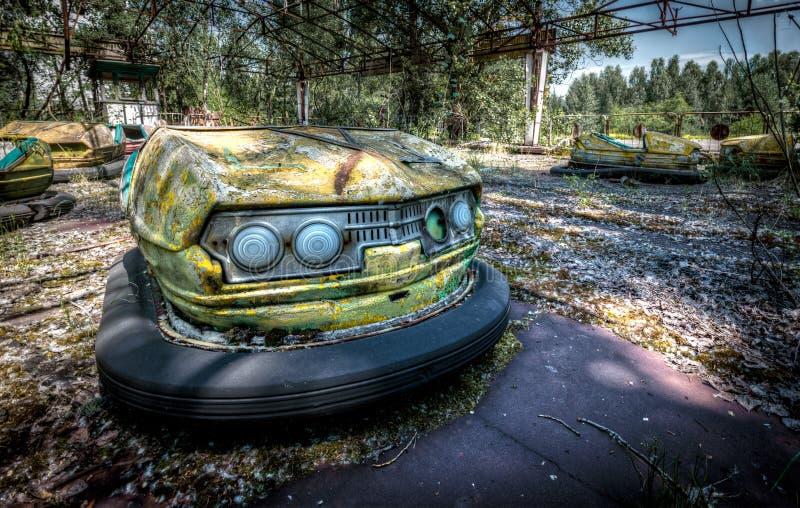 Αυτοκίνητα προφυλακτήρων Pripyat στοκ φωτογραφίες με δικαίωμα ελεύθερης χρήσης
