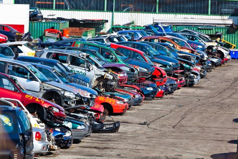 αυτοκίνητα junkyard στοκ φωτογραφία με δικαίωμα ελεύθερης χρήσης